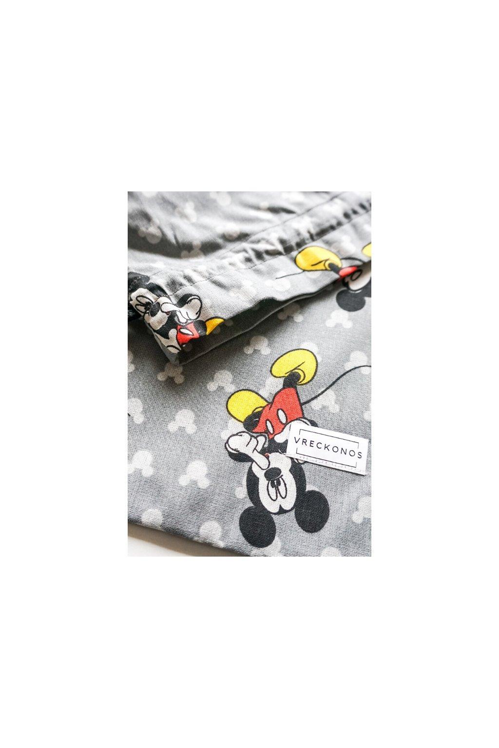 Mickey Mouse - látkové bavlnené vrecko na ovocie, zeleninu, pečivo, kozmetiku či papučky - Vreckonos