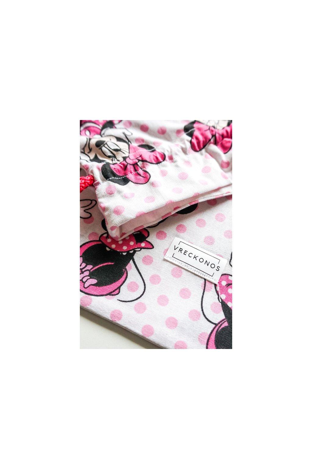 Minnie Mouse - látkové bavlnené vrecko na ovocie, zeleninu, pečivo, kozmetiku či papučky - Vreckonos