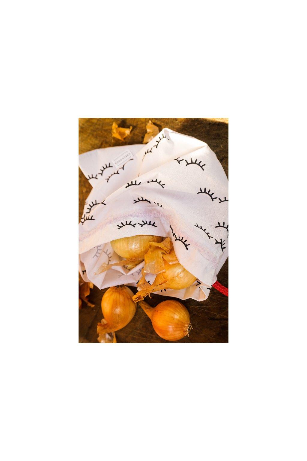 látkové bavlnené vrecko na nákup ovocia, zeleniny a pečiva Vreckonos