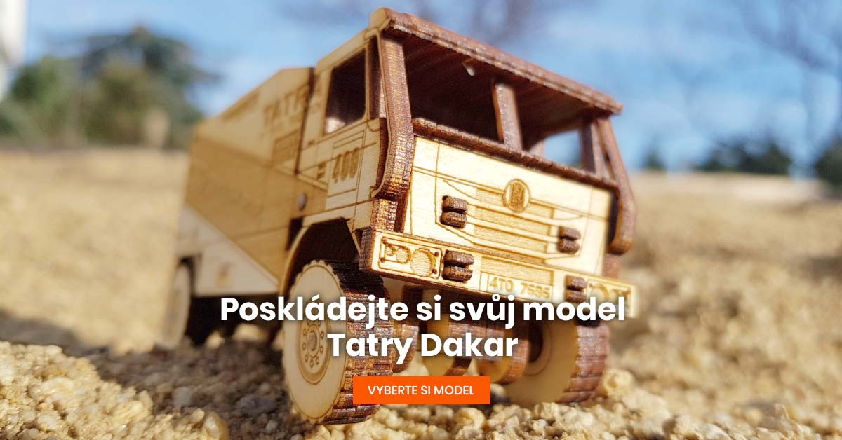 Dřevěné modely Dakar