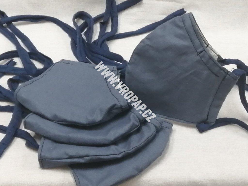 Anatomická rouška - Modrá jeans