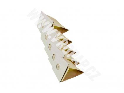 tvar původního kartonu obkreslete a nůžkami vystříhněte. - papírový sáček do vysavače (X001)
