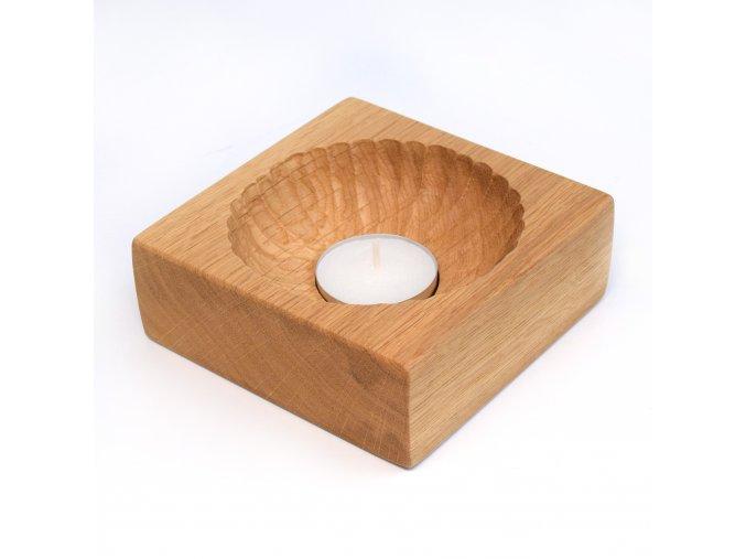 Svícen ve tvaru čtverce (5 ks s gravírováním)