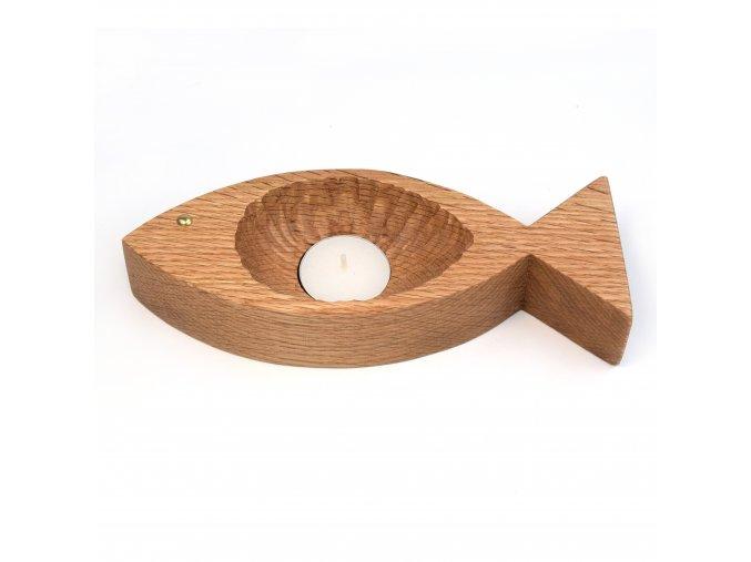 Svícen ve tvaru ryby