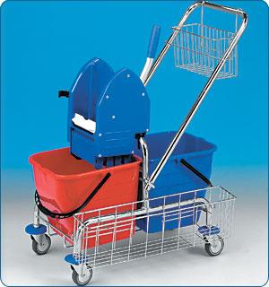 Dvojkbelíkové úklidové vozíky