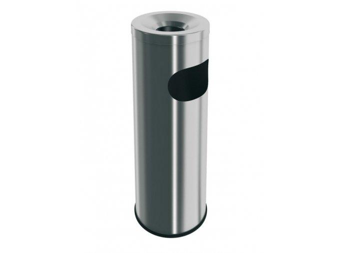 Stojanový popelník z nerezové oceli