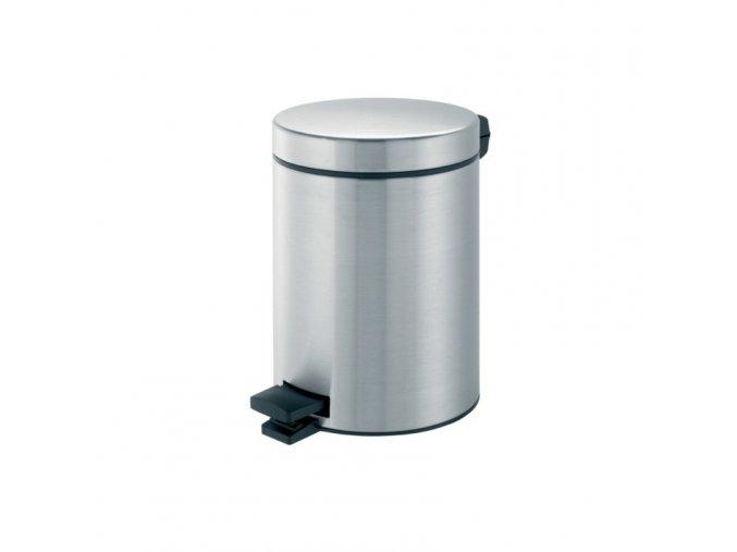 Odpadkový koš nášlapný kovový nerez mat 5 l