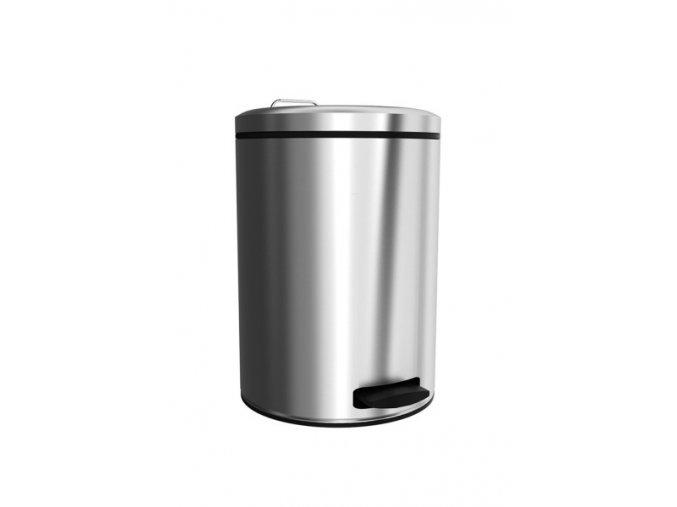 Odpadkový koš nášlapný kovový nerez mat 12 l