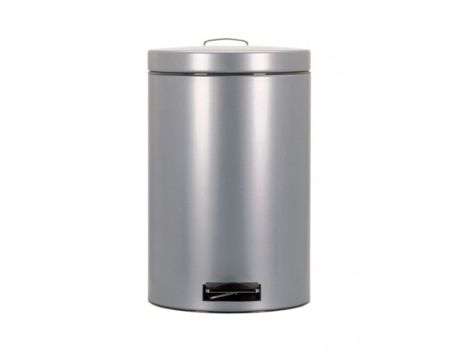 Odpadkový koš nášlapný kovový nerez mat 20 l