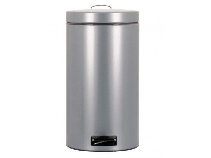 Odpadkový koš nášlapný kovový nerez mat 30 l
