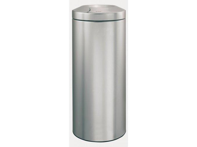 Odpadkový kovový koš samozhášecí 30 l nerez mat