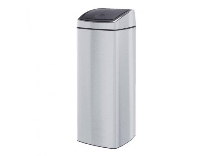 Odpadkový kovový koš s víkem Touch Bin 25 l nerez lesk