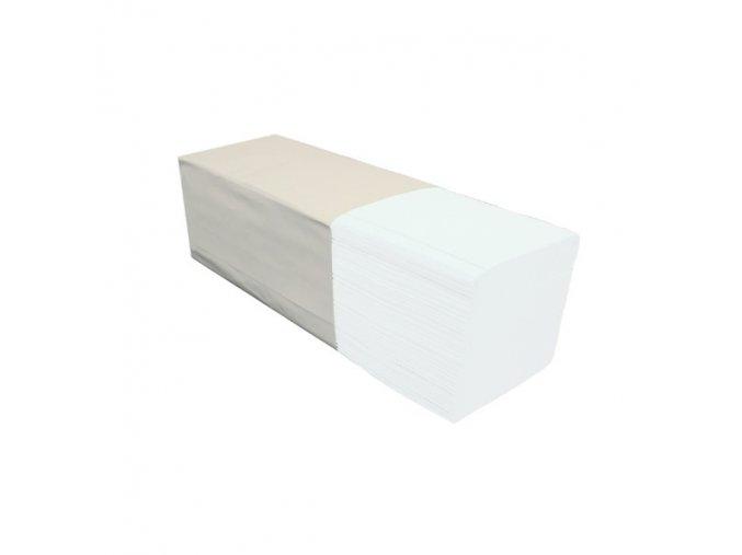 Jednotlivé papírové ručníky MERIDA OPTIMUM, BÍLÉ, 3200 ks, 2 vrstvé