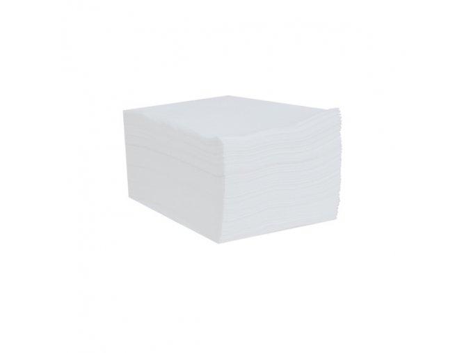 Čistivo z netkané textílie, bílé, 30 x 40 cm, 100 ks/balení