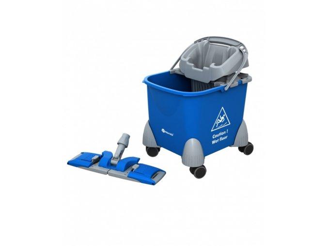 Úklidový vozík PIKO, vědro + držák mopu