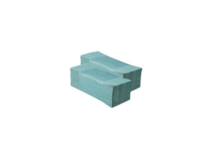 Jednotlivé papírové ručníky ZELENÉ 3750 ks, 2 vrstvé, skládané