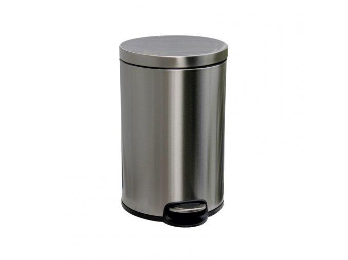 Odpadkový koš s pedálem SILENT, kovový, matový, 20 l