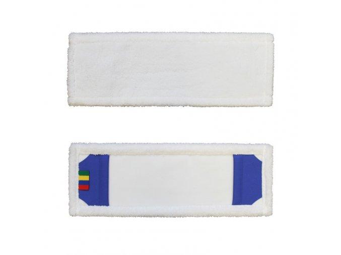Mop s kapsami ECONOMY, mikrovlákno, 40 cm, bílý (SEP241)