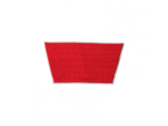 Mop z mikrovlákna PREMIUM MINI červený - lichoběžník, 32/24 x 16 cm