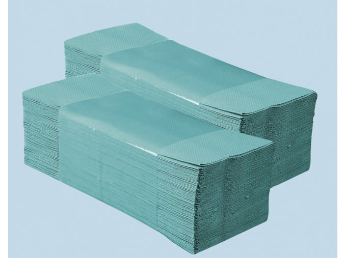 Jednotlivé papírové ručníky ZELENÉ 4000 ks skládané