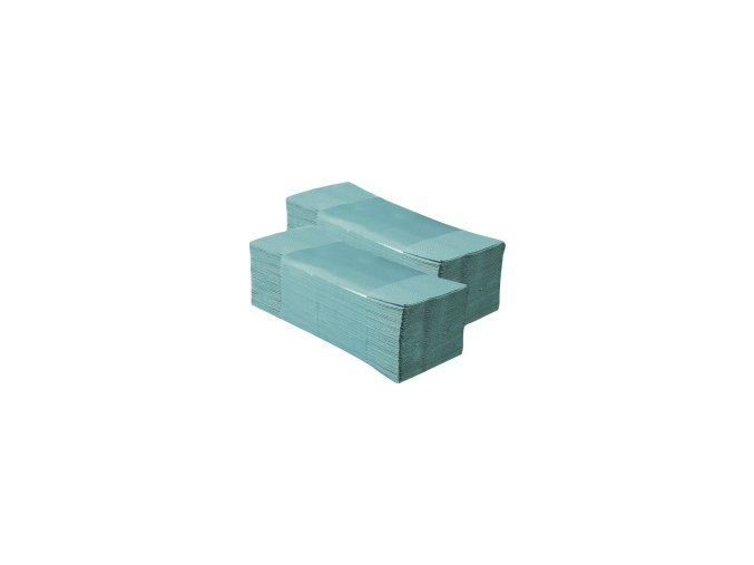 Jednotlivé papírové ručníky EKONOM zelené 5000 ks skládané