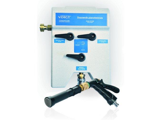 Dávkovač chemie 2 - funkční pěnotvorný s pistolí a hadicí