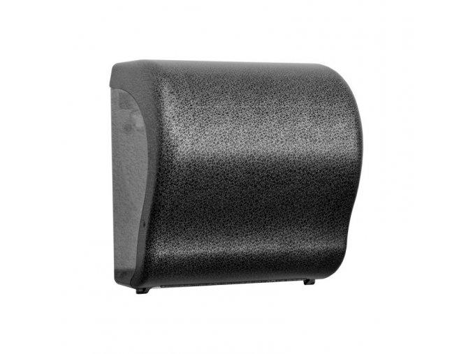 MECHANICKÝ podavač pap. ručníků v rolích Maxi UNIQUE GLAMOUR BLACK LINE Lux Cut -      mat
