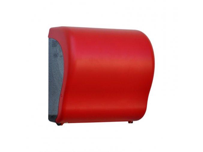 MECHANICKÝ podavač papírových ručníků v rolích Maxi UNIQUE RED LINE Lux      Cut-lesk