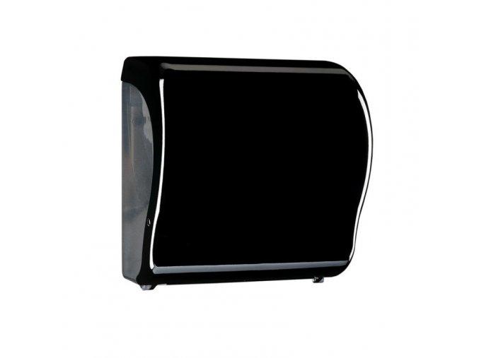 MECHANICKÝ podavač papírových ručníků v rolích Maxi UNIQUE PIANO BLACK LINE Lux      Cut-lesk