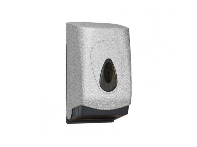 Zásobník na toaletní papír skládaný MERIDA UNIQUE GLAMOUR WHITE LINE - lesk