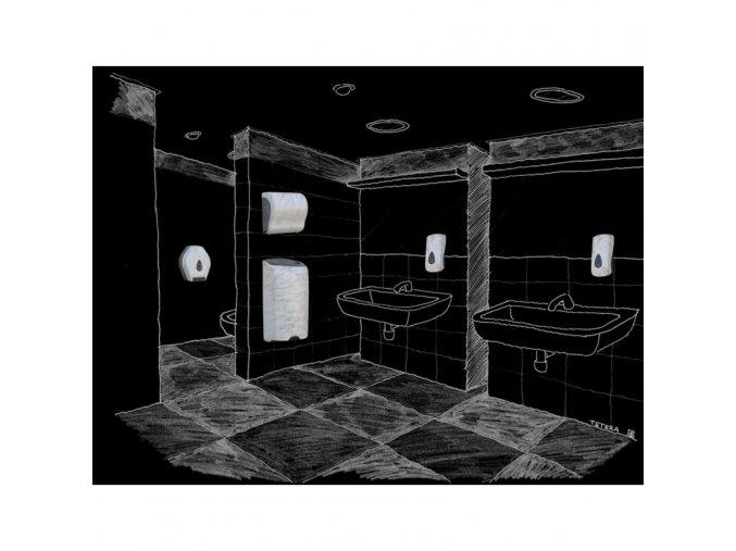 Zásobník na toaletní papír skládaný MERIDA UNIQUE MARBLE LINE - lesk