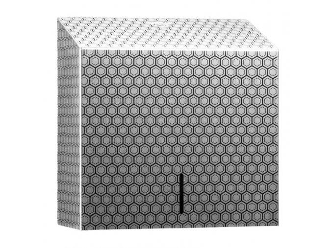ZÁSOBNÍK na papírové ručníky Maxi MERIDA INOX DESIGN honeycomb line, nerez