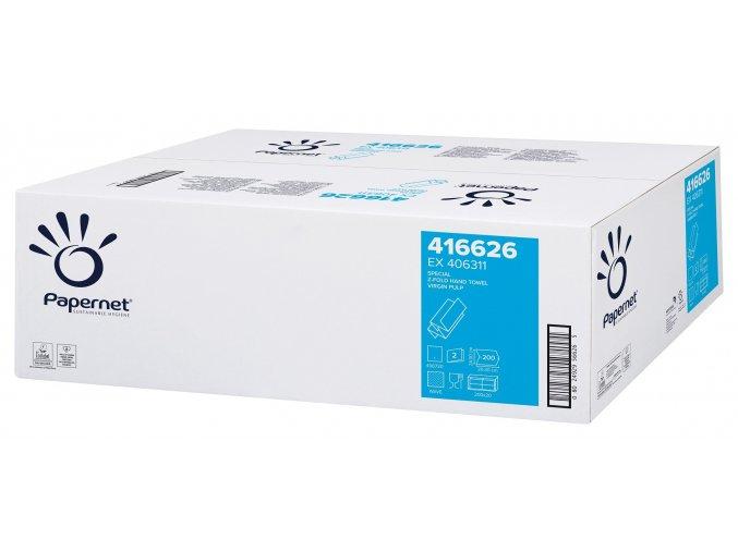 Skládané papírové ručníky PAPERNET 416626