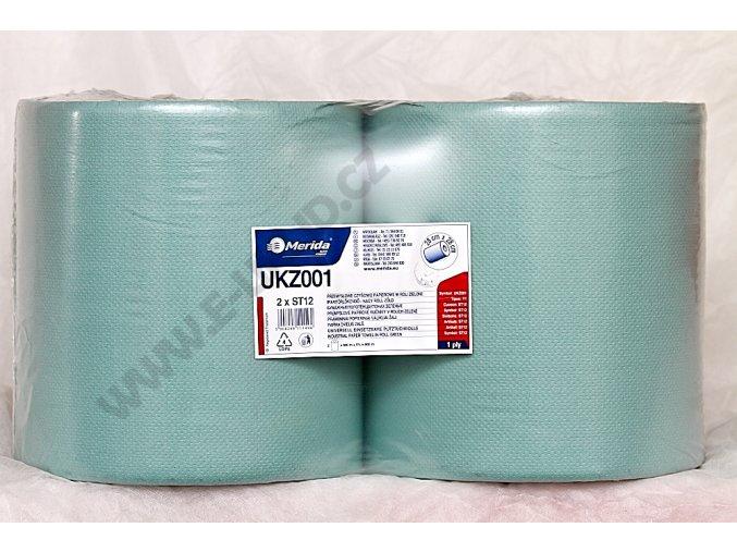 Papírové čistivo univerzální zelené UKZ001 - 2 role v balení