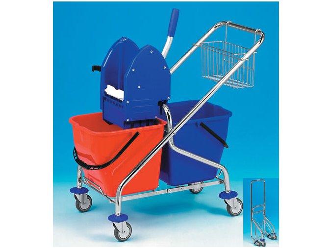 Úklidový vozík REKORD 2x17 l skládací