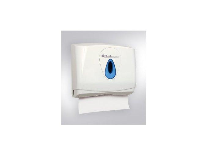 zásobník na skládané ručníky mini modrý