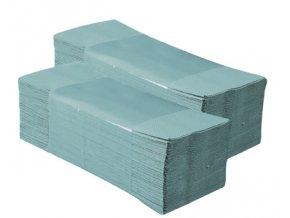 Jednotlivé papírové ručníky ZELENÉ 5000 ks skládané