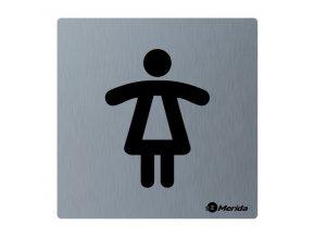 Piktogram z nerez oceli STELLA mat-WC dámy