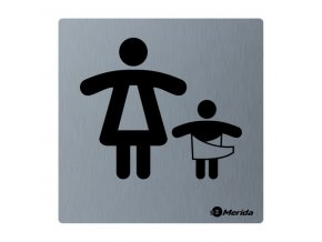 Piktogram z nerez oceli STELLA mat-WC matky s dětmi