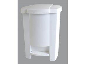 Odpadkový koš otevíraný nožním pedálem bílý 28 l