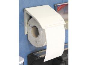 Zásobník na toaletní papír klasický,bílý komaxit