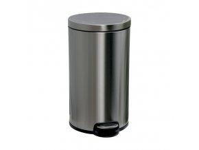 Odpadkový koš s pedálem SILENT, kovový, matový, 30 l