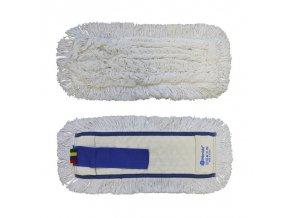 Mop plochý uzlíčkový s kapsami OPTIMUM, bavlna, 40 cm (dříve MO20)