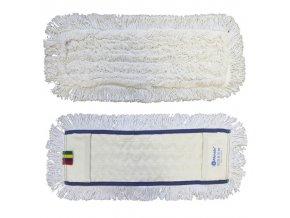 Mop plochý uzlíčkový s kapsami OPTIMUM, bavlna, 50 cm (dříve MO21)