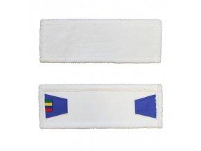 Mop se záložkami ECONOMY, mikrovlákno, 40 cm , bílý (dříve SAP104)