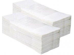 Jednotlivé papírové ručníky EKONOM BÍLÉ, 5000 ks, 1 vrstvé