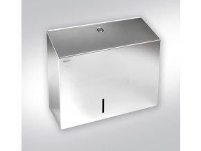 Zásobník na toaletní papír MERIDA STELLA DUO,nerez lesk, 19 cm