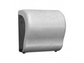 MECHANICKÝ podavač papírových ručníků v rolích Maxi UNIQUE GLAMOUR WHITE LINE Lux      Cut-lesk