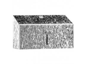 ZÁSOBNÍK na papírové ručníky Mini MERIDA INOX DESIGN icicle line, nerez