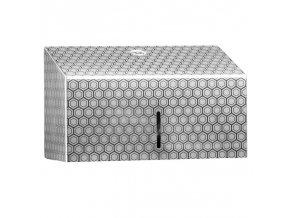 ZÁSOBNÍK na papírové ručníky Mini MERIDA INOX DESIGN honeycomb line, nerez